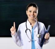 Ärztinfrauenunterricht an der Medizinischen Fakultät Stockfotografie