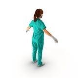 Ärztinganzaufnahme auf weißer Illustration 3D Lizenzfreie Stockbilder