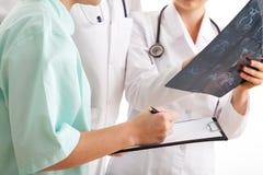 Ärztliche Behandlung der Bestimmung Stockfotos