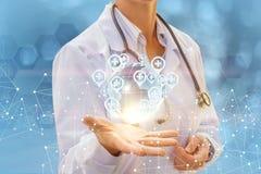 Ärztliche Bemühungen auf der ganzen Welt stock abbildung