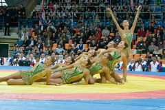 Ästhetische Gymnastik Stockfotos