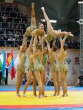 Ästhetisches Team der russischen nationalen Gymnastik Lizenzfreie Stockbilder