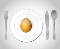 Äta äggillustrationdesign Arkivbild