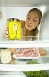 äta ättiksgurkar som jag önskar Royaltyfri Foto