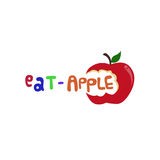 Äta den Apple logoen Royaltyfri Fotografi