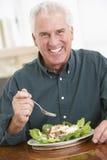 äta den sunda manmålpensionären arkivbild