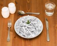 äta dina ord Arkivfoto