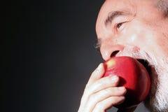 äta för äpple royaltyfria bilder