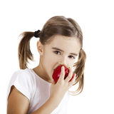 äta för äpple Royaltyfria Foton