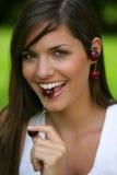 äta för Cherry som är teen Royaltyfri Fotografi