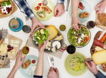 Äta för folk arkivfoton