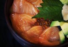 Äta för japansk mat för Sashimi sunt fotografering för bildbyråer