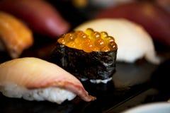 Äta för japansk mat för sushi sunt royaltyfria bilder