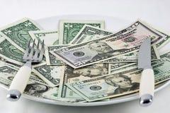 äta för kostnad Royaltyfria Bilder