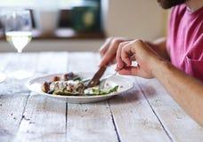 Äta för man Royaltyfria Foton