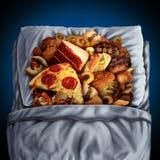 Äta för natt royaltyfri illustrationer