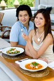 Äta för par Arkivfoton