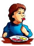 äta för pojke vektor illustrationer
