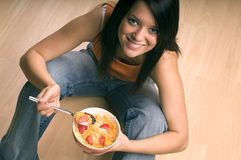 Äta frukosten Royaltyfri Fotografi