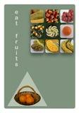 Äta frukt Arkivbild