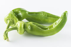 äta grön sund isolerad pepparserie royaltyfria foton