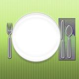 äta låt s stock illustrationer