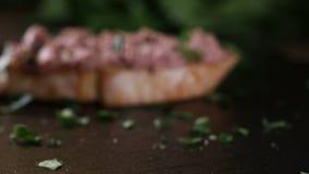 Äta leverkorvsmörgåsen från ett mörker kritisera lager videofilmer