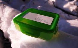 Äta lunch asken för mat, smörgåsar och mellanmål Passande för arbete, lopp och fotvandradet fria royaltyfri foto