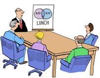 Äta lunch avbrottet vektor illustrationer