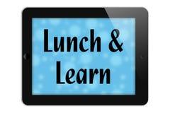 Äta lunch och lär vektor illustrationer