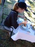 äta lunch utanför Royaltyfri Foto