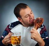 Äta meat Royaltyfri Bild
