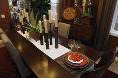 äta middag bostadslokal royaltyfri foto