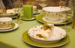 äta middag elegant inställning Arkivfoton