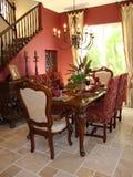 äta middag elegant röd lokal royaltyfri foto