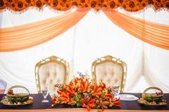 äta middag elegant tabell Royaltyfri Bild
