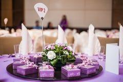 äta middag elegant tabell Royaltyfri Fotografi
