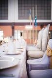 äta middag elegant tabell Fotografering för Bildbyråer