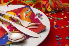 Äta middag för karneval Fotografering för Bildbyråer