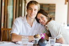 Äta middag för par royaltyfri bild