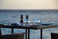 Äta middag för sjösida Royaltyfri Bild