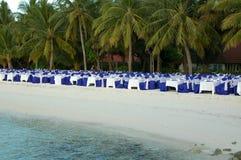 äta middag fina maldives Royaltyfria Bilder