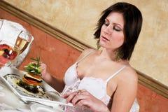 äta middag fine royaltyfri fotografi
