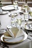 äta middag fine inställt gifta sig för tabeller arkivbild