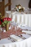 äta middag fine inställt tabellbröllop Royaltyfria Foton