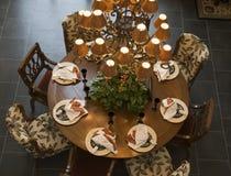 äta middag home lyxig tabell Arkivfoto