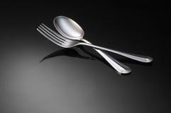 äta middag inställning arkivfoton