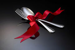 äta middag inställning royaltyfri foto