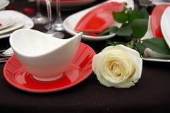 äta middag inställningstabell Royaltyfri Foto