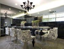 äta middag interior för design royaltyfria foton